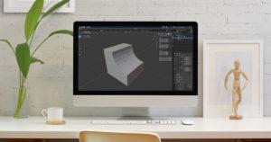 【blender2.81】オブジェクトでオブジェクトを切り抜く方法(ブーリアン)のイメージ画像