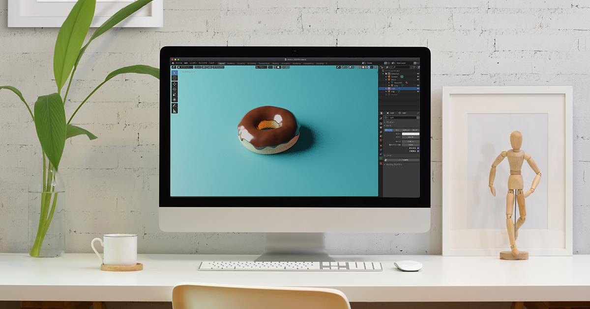 blenderでカメラの位置を設定するイメージ画像