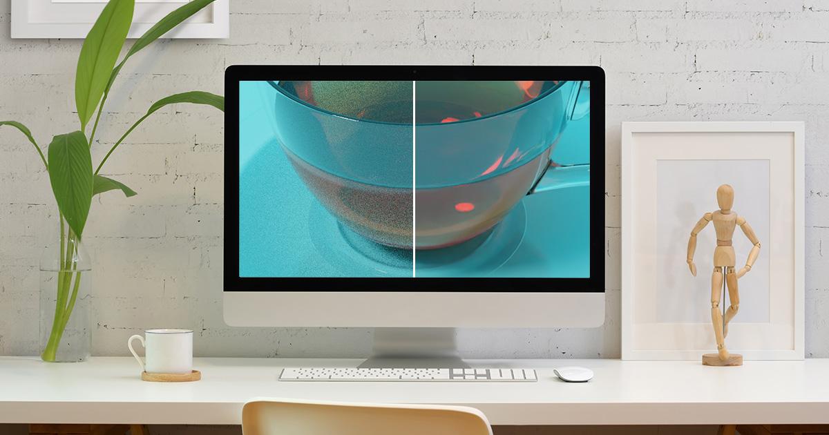 レンダリング画像からノイズをなくす方法(デノイズ)のイメージ画像