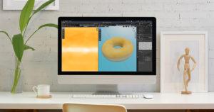 【blender2.81】ブラシにテクスチャマスクを適用するイメージ画像