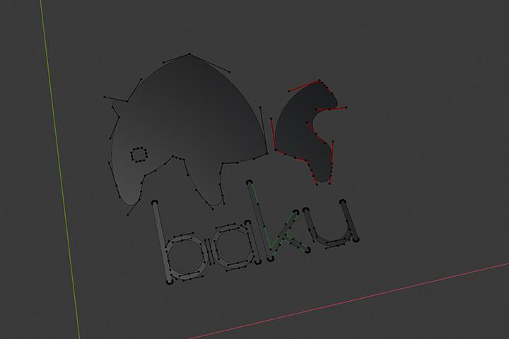 【blender2.81】aiデータを取り込んで立体にする方法の画像7
