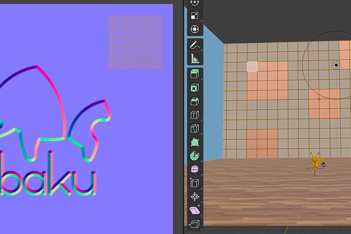 【blender2.81】ノーマルマップを部分的に適用する方法の画像4