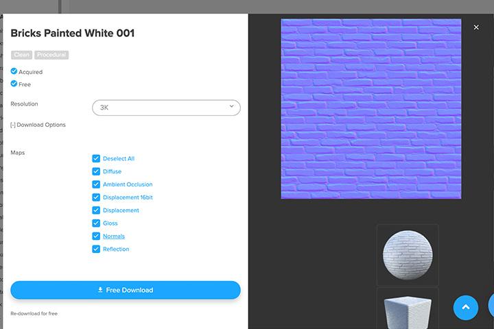 【blender2.81】平面にノーマルマップを設定してサイズを調整する方法の画像1