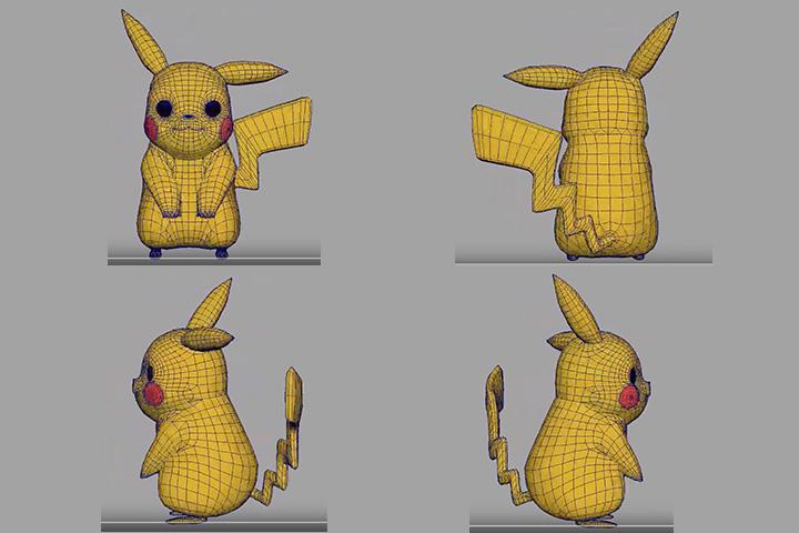 blender-ピカチュウの3Dモデリングの画像