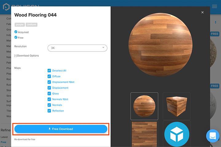 【blender2.81】平面にテクスチャを設定してサイズを調整する方法の画像1