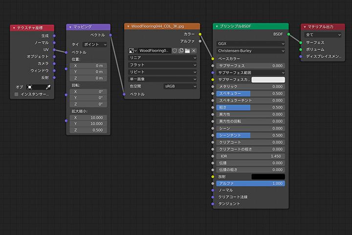 【blender2.81】平面にテクスチャを設定してサイズを調整する方法の画像6
