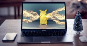 【AfterEffects】ピカチュウに電撃エフェクトを追加して技を出してみたのイメージ画像