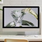 【blender2.8】ダイヤモンドを生成してキレイに書き出す方法のイメージ画像