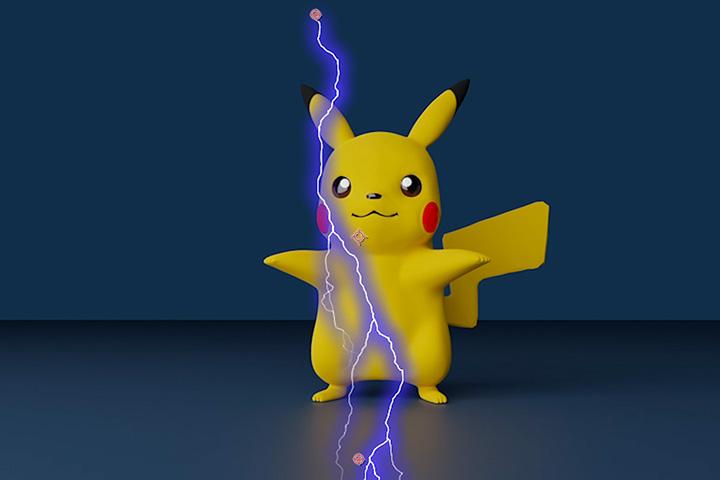 【AfterEffects】ピカチュウに電撃エフェクトを追加して技を出してみたの画像4