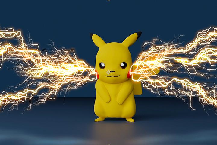 【AfterEffects】ピカチュウに電撃エフェクトを追加して技を出してみたの画像6