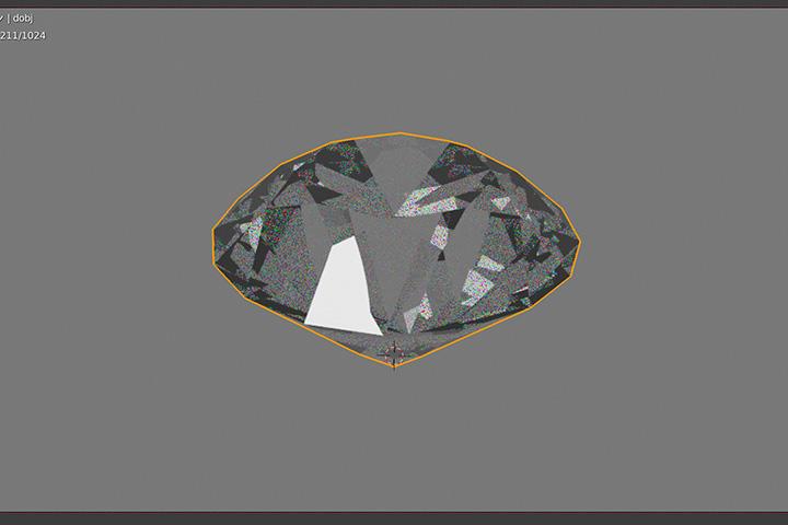 【blender2.8】ダイヤモンドを生成してキレイに書き出す方法の画像10