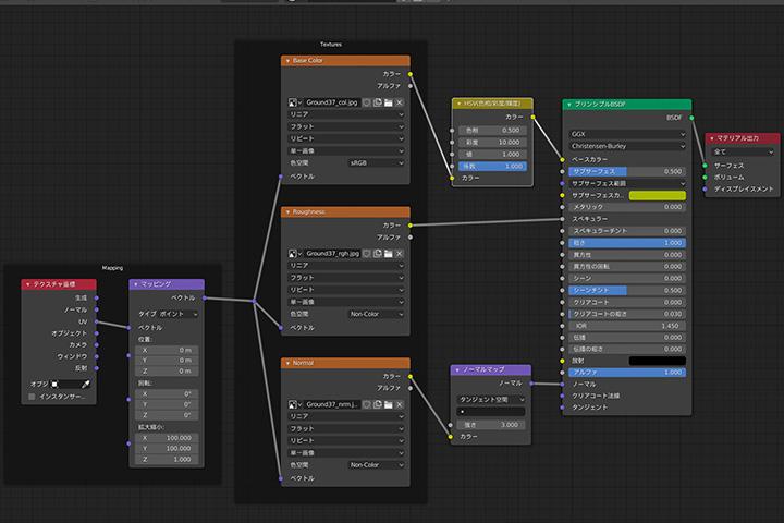 【blender2.8】テクスチャ、ノーマルマップを設定する最も便利な方法の画像8